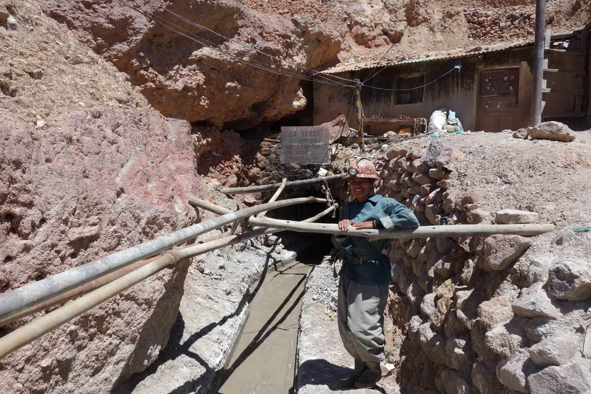 Une des entrées de la mine
