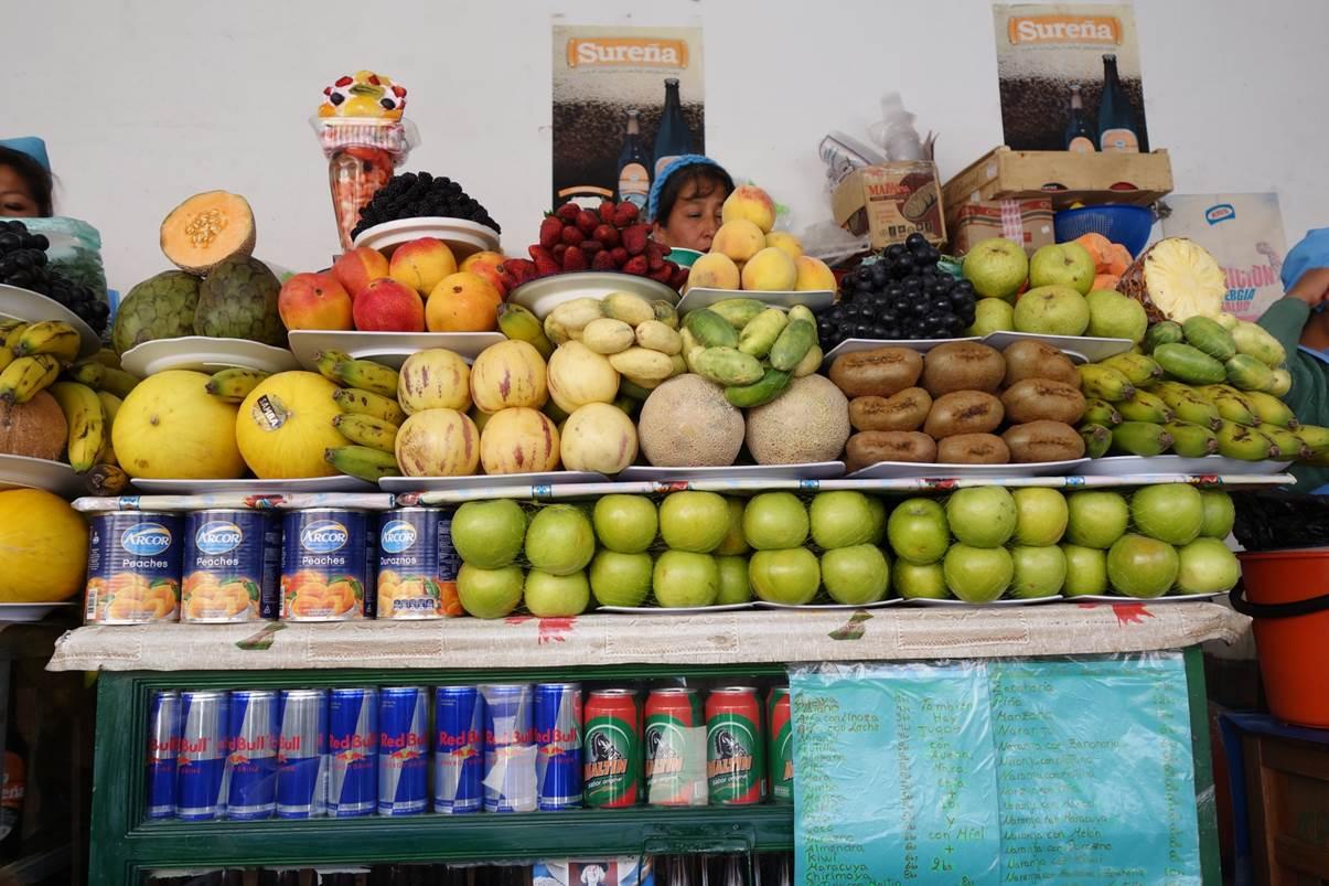 Stand de jus de fruits