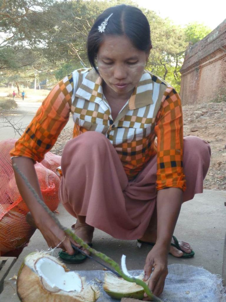 Vendeuse noix de coco