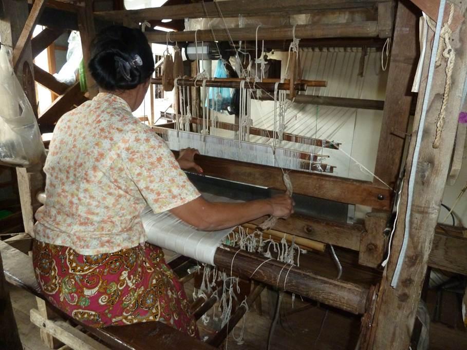 Atelier de tissage - Inlé Lake