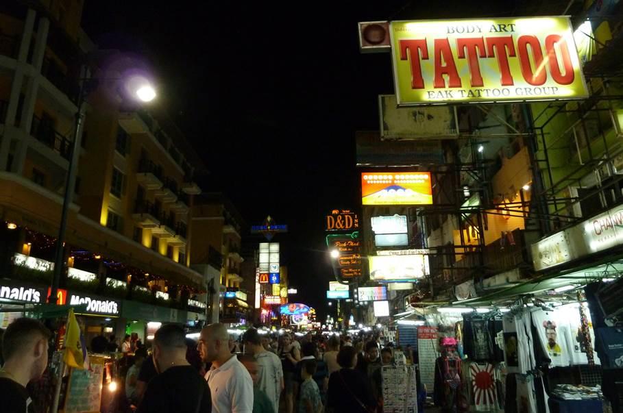 Nigh life à Kao San Road - Bangkok